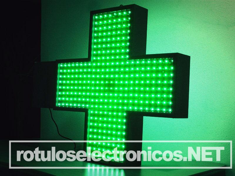 cruz de farmacia led verde